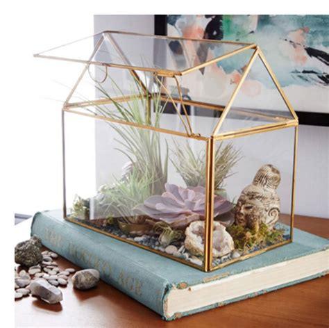 glass flower pots planters home decoration terrarium air plant geometric vases glass box wedding