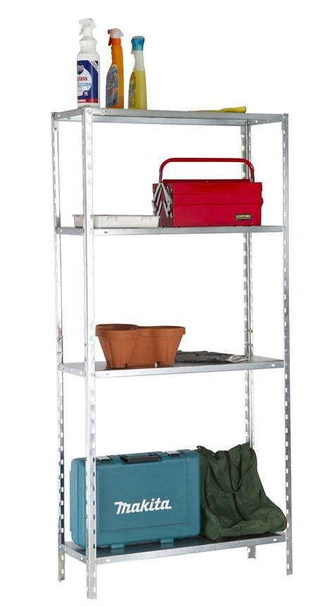 4 shelf galvanized metal utility storage racking shelves