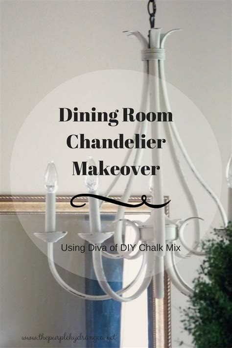 diy dining room chandelier diy dining room chandelier makeover the purple hydrangea