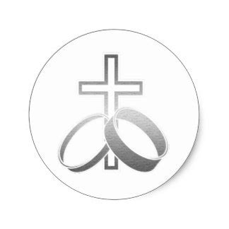 Wedding Rings With Crosses by Silver Cross Stickers Zazzle