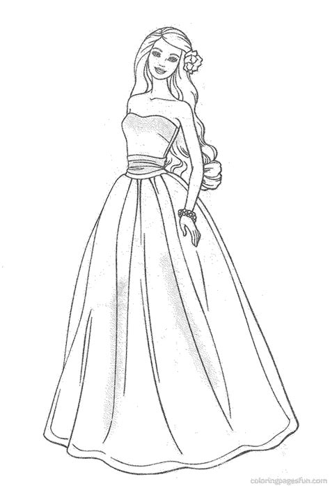 online coloring pages of barbie free barbie coloring pages collections image 30