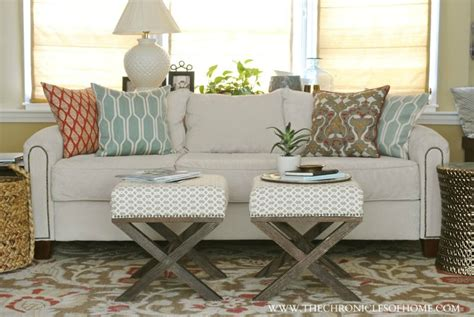 diy ottoman reupholstery the reveal our newly upholstered sofa the chronicles