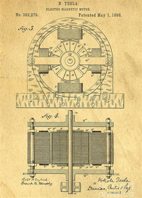 Tesla Coil Patent Nikola Tesla Coil Patent Greeting Card For Sale By