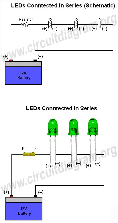 how to connect diodes in series how to connect wire leds circuit diagram