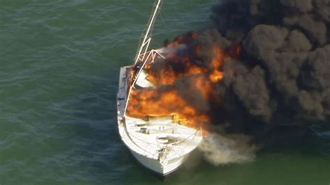 boat captain injured during boat fire in biscayne bay - Fire Boat Captain