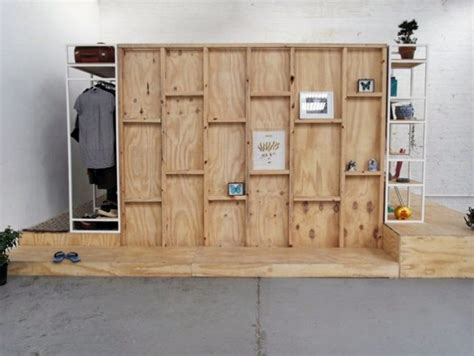 Built In Bedroom Furniture Diy Inner Space 14 Modular All In One Living Cubes To Organize Interiors Urbanist