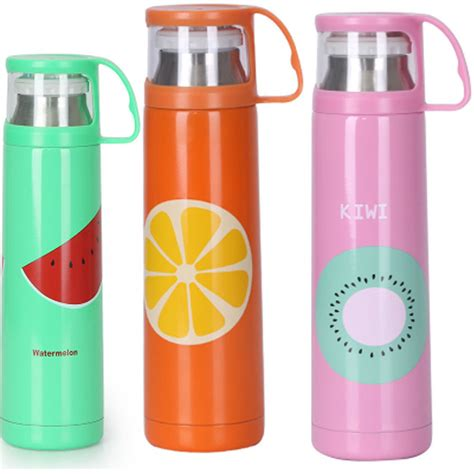 Vacuum Bottle Termos Stainless Steel Big 500ml Cool and stainless steel vacuum cup 500ml students creative portable sports termos bottle