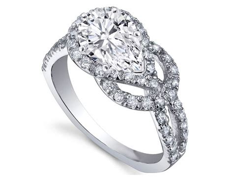 pear shape knot engagement ring jewels