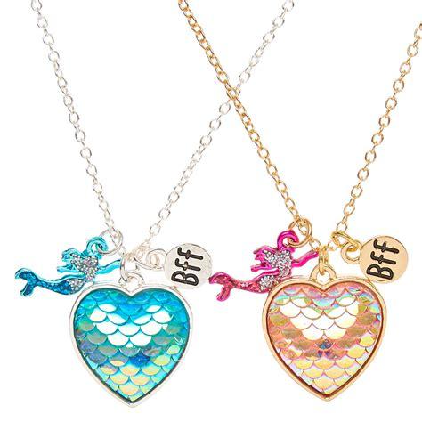 Mermaid Necklace best friends mermaid scales pendant necklaces