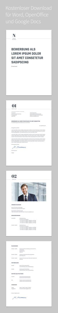 Powerpoint Design Vorlage Schlicht bewerbungsvorlage mit deckblatt anschreiben und