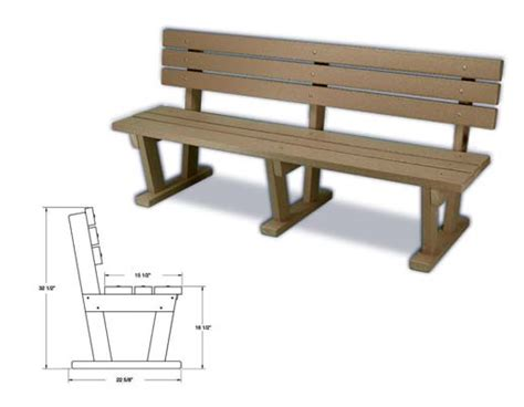 standard bench height plastic benches eco friendly recycled plastic benches