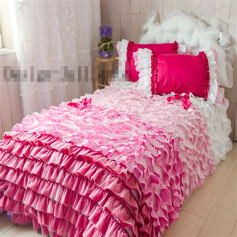 princess comforter full size cake layers bedding set twin full queen king size ruffle