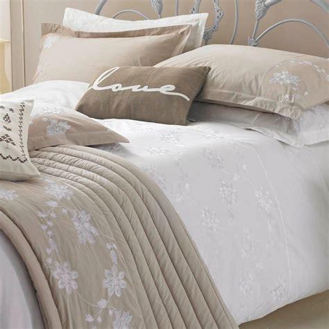 living ribbon patchwork embroidered duvet cover setkingsize kirstie allsopp white embroided duvet cover pillow cases ebay