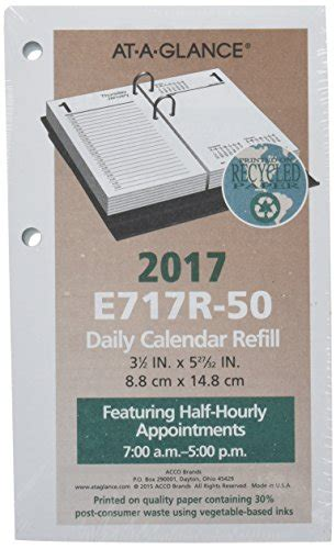 desk calendar refill 2017 at a glance daily desk calendar 2017 refill january