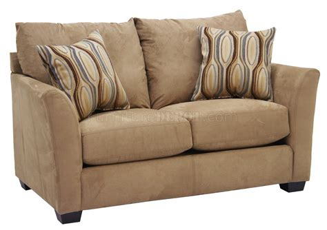 swade couch beige suede fabric modern sofa loveseat set w options
