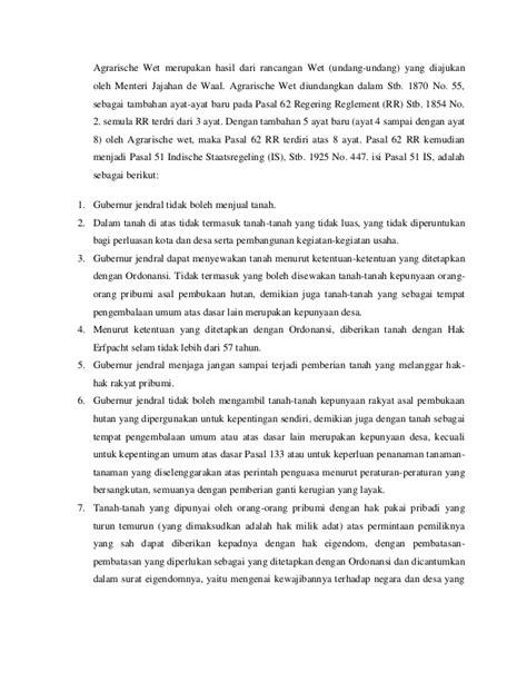 Hukum Agraria Indonesia Sejarah Pembentukan Boedi Harsono hukum dan politik agraria kolonial