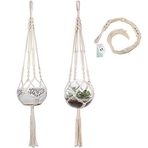 Macrame Pot Hangers For Sale - aliexpress buy macrame plant hanger hanging planter