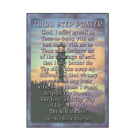Third Step Prayer Card [C47]   $2.95 : 12 Step Program
