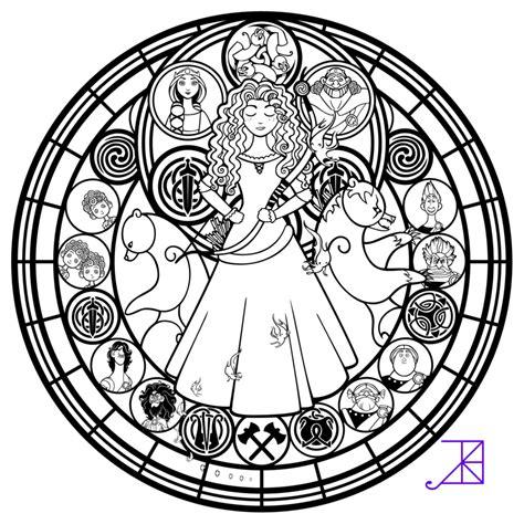 libro mandalas at midnight a disney brave stained glass merida line art by akili amethyst com on