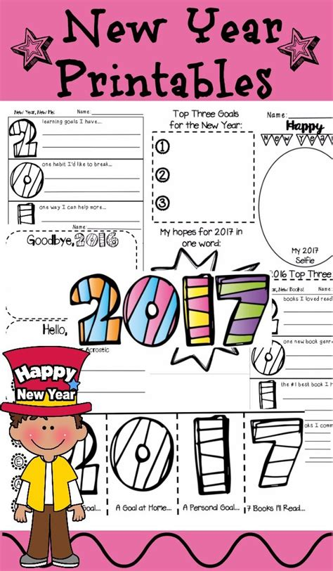 new year for elementary students new year 2018 activities 2017 printables elementary