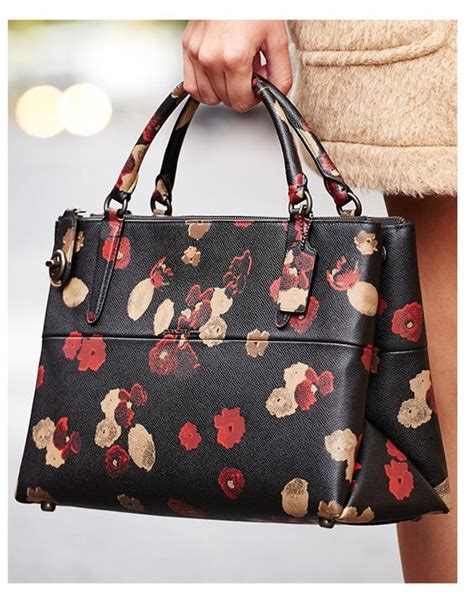 Coach Borough Floral coaches cheap coach bags and floral prints on
