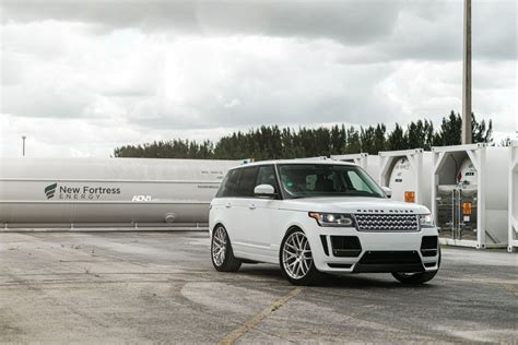 custom 2016 land rover white range rover hse adv7 m v1 standard wheels adv 1