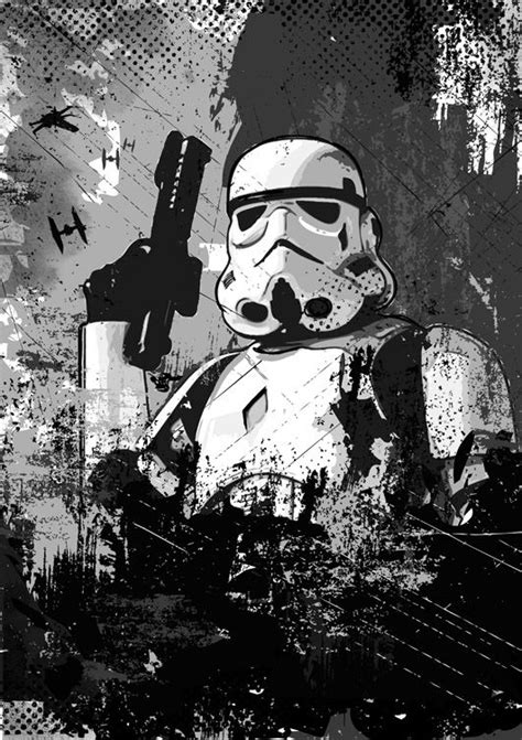wars stormtrooper imperial soldier black and white