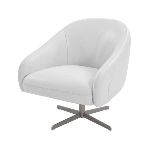 white leather swivel chair brookville white leather swivel chair el dorado furniture