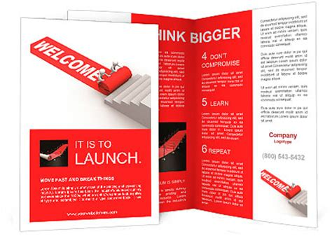 3d brochure template welcome success this is a 3d render brochure template