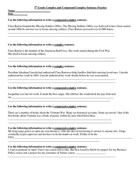 Free Grammar Worksheets 7th Grade by 14 Best Images Of 7th Grade Writing Worksheets 7th Grade