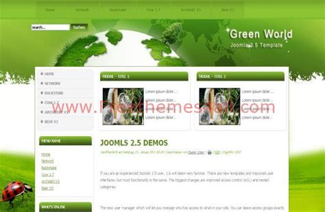 sexy green nature free joomla theme template freethemes4all