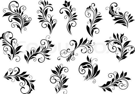 Einfache Motive by Retro Floral Motifs And Foliate Retro Vintage Vignettes