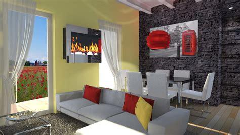 soggiorno con muro in pietra parete finta pietra soggiorno idee per il design della casa