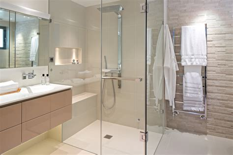 Integrated Shower Units Shower Stalls With Seat Bathroom Traditional With Artwork