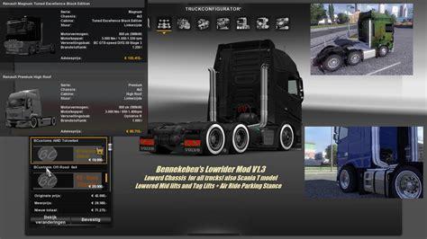 kumpulan mod game ets 2 bennekeben s lowrider mod v1 3 mod euro truck simulator 2