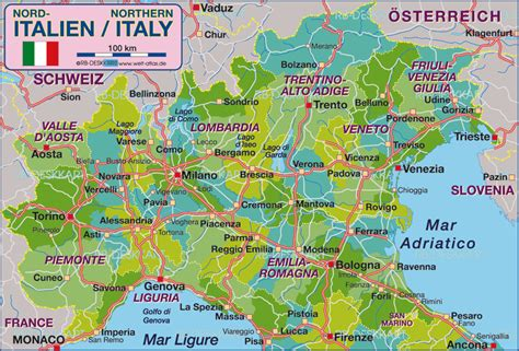 map of northern italy ferrara italy map