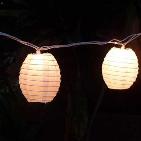 String Lights 4 Inch Kawaii Paper Lanterns 6 5 Feet White Paper Lantern String Lights