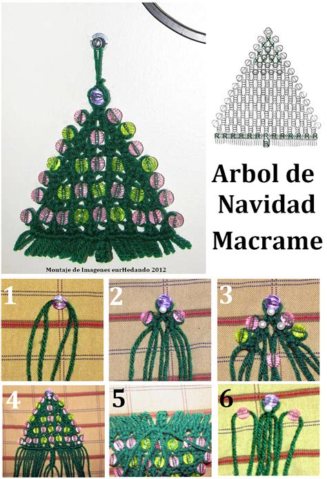 como hacer un arbol de navidad de macrame enrhedando
