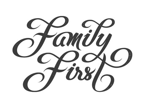 vector version of family first by bj 246 rn berglund dribbble