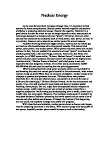 Essay About Nuclear Power by Nuclear Energy Persuasive Essay Report403 Web Fc2