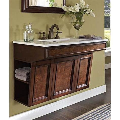 Handicap Bathroom Vanities Fairmont Designs Newhaven 36 Quot Wall Mount Ada Vanity Nutmeg Free Shipping Modern Bathroom