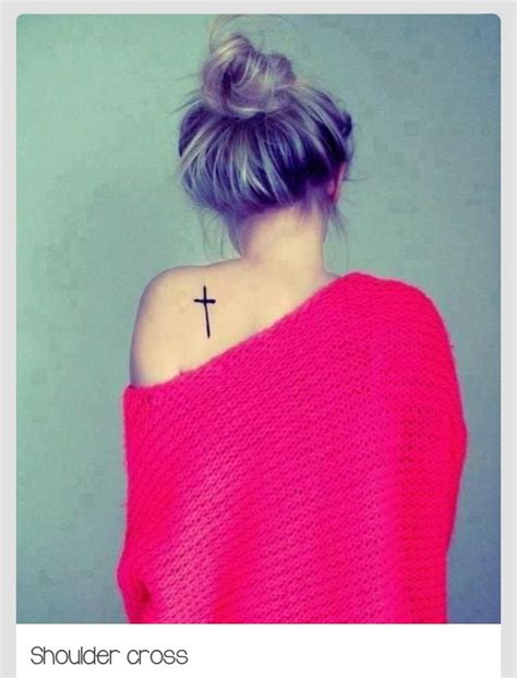 cross tattoo on shoulder blade shoulder blade cross ideas crosses