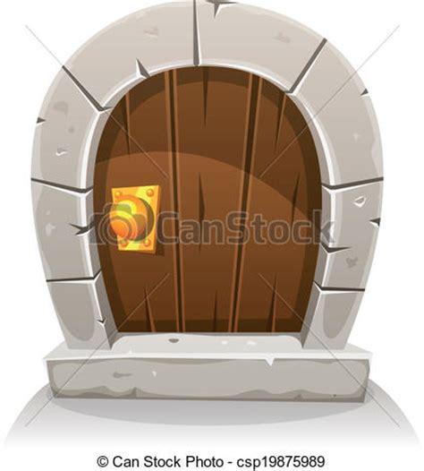 English Stone Cottage House Plans Vecteur De Dessin Anim 233 Bois Et Pierre Hobbit Porte
