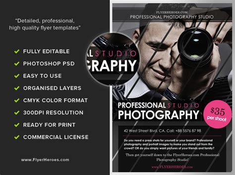 flyer advertisement template free photography flyer templates