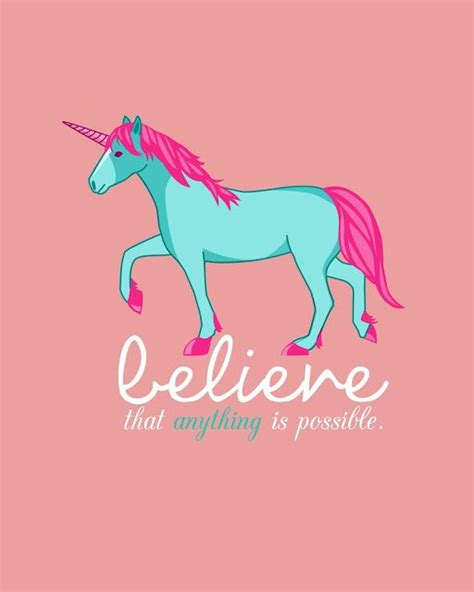 printable unicorn birthday free unicorn printable believe that anything is possible