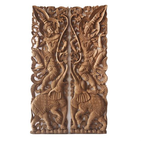 Handcrafted Wall Hangings - pair of handcrafted wall hangings of thai siam