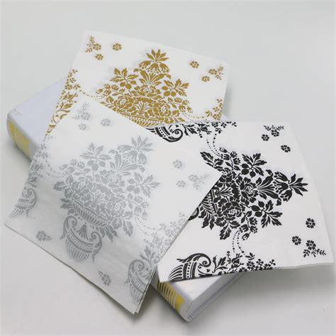 Decorative Napkins Paper by Popular Flower Paper Napkins Buy Cheap Flower Paper