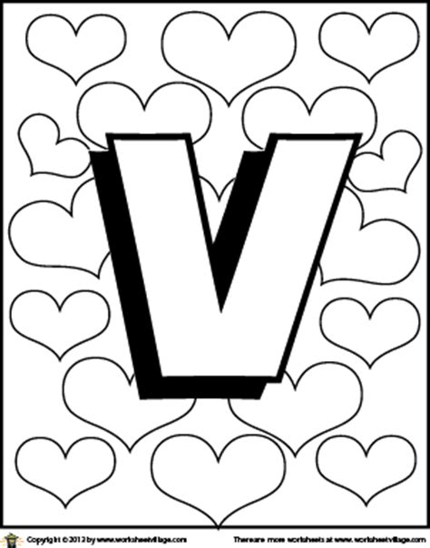 adult coloring pages letter v coloring pages