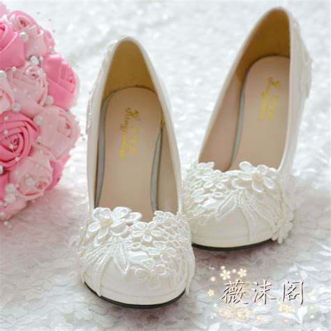 Handmade Wedding Shoes - aliexpress buy handmade wedding shoes white pearl