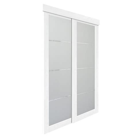 Sliding Glass Doors For Closet White Mirror Panel Mirror Sliding Closet Interior Door Lowe S Canada